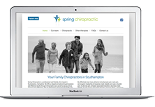 Spring chiropractor web site